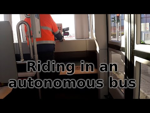 Riding in an autonomous bus