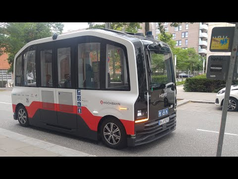 Autonomous bus driving through Hamburg